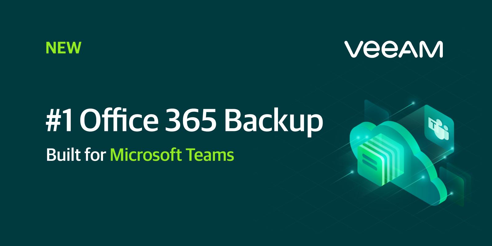 Veeam Backup za Microsoft Office 365 v5 sedaj podpira tudi backup za Microsoft Teams